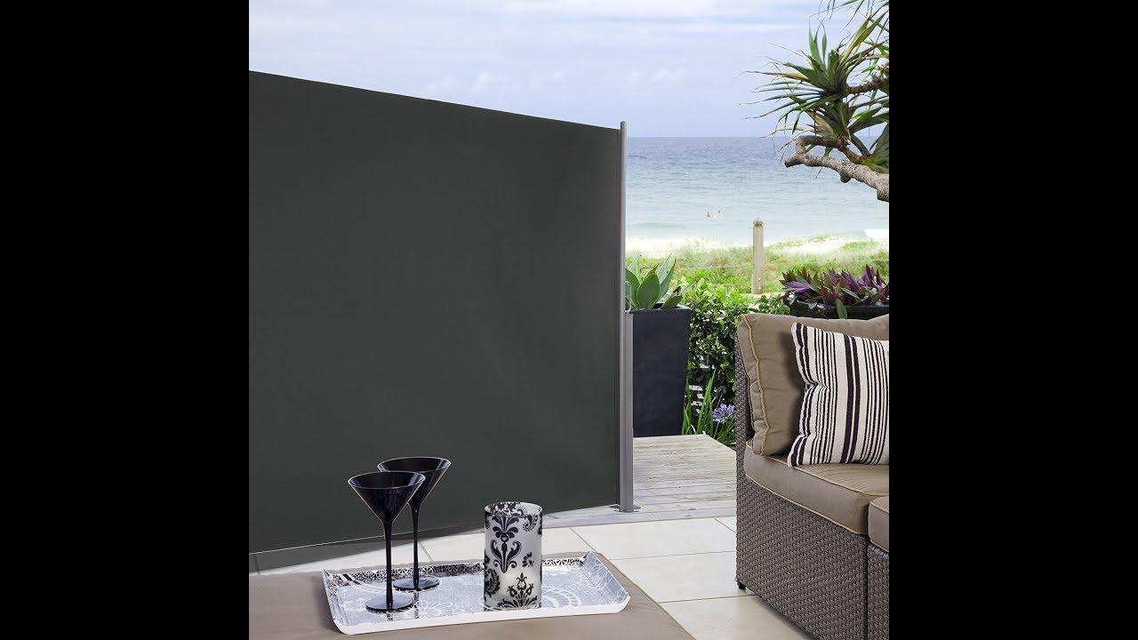 Ultranatura Maui Seitenmarkise Grau 300 X 180 Cm Youtube