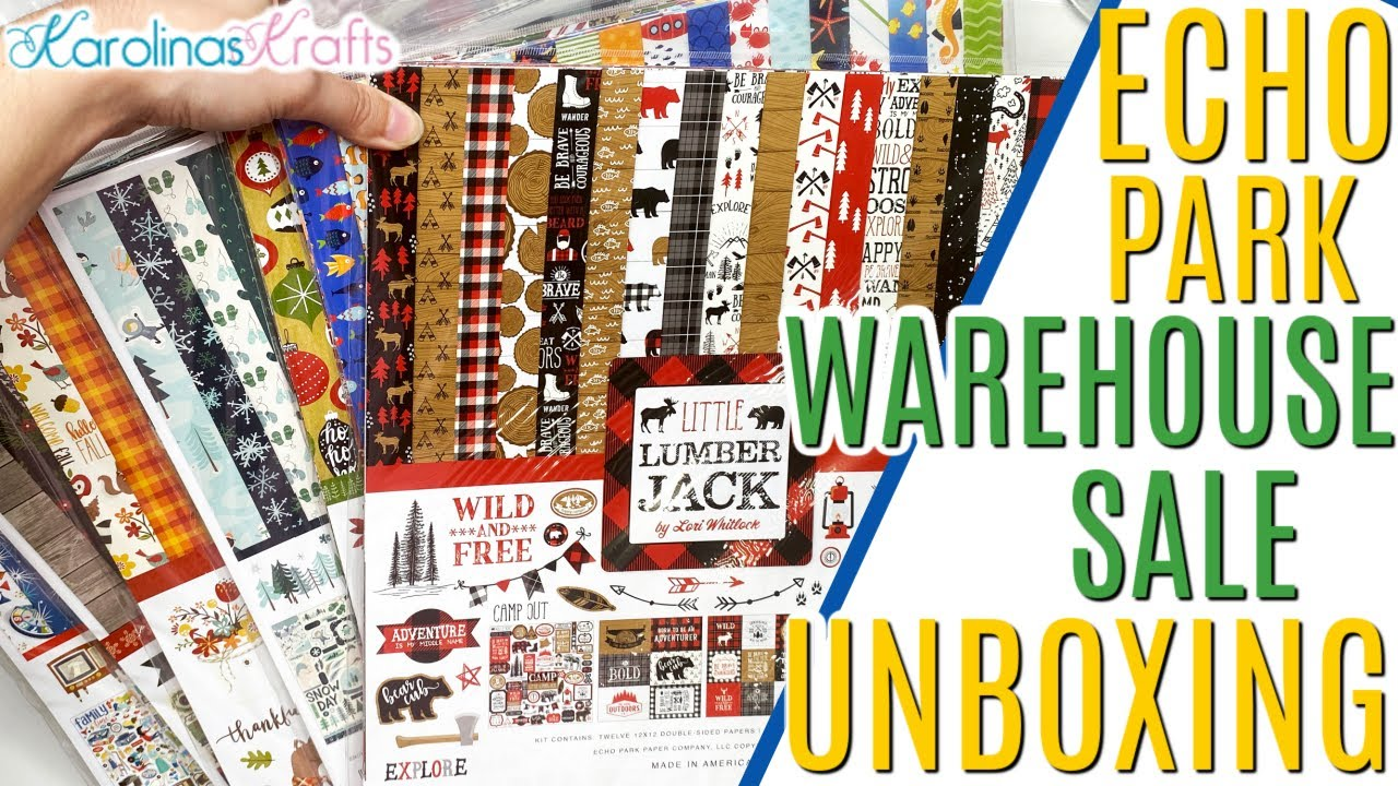 Download Echo Park Warehouse Sale October 2021 Paper Haul, Echo Park Collection Kits Haul and Crafty Ephemera