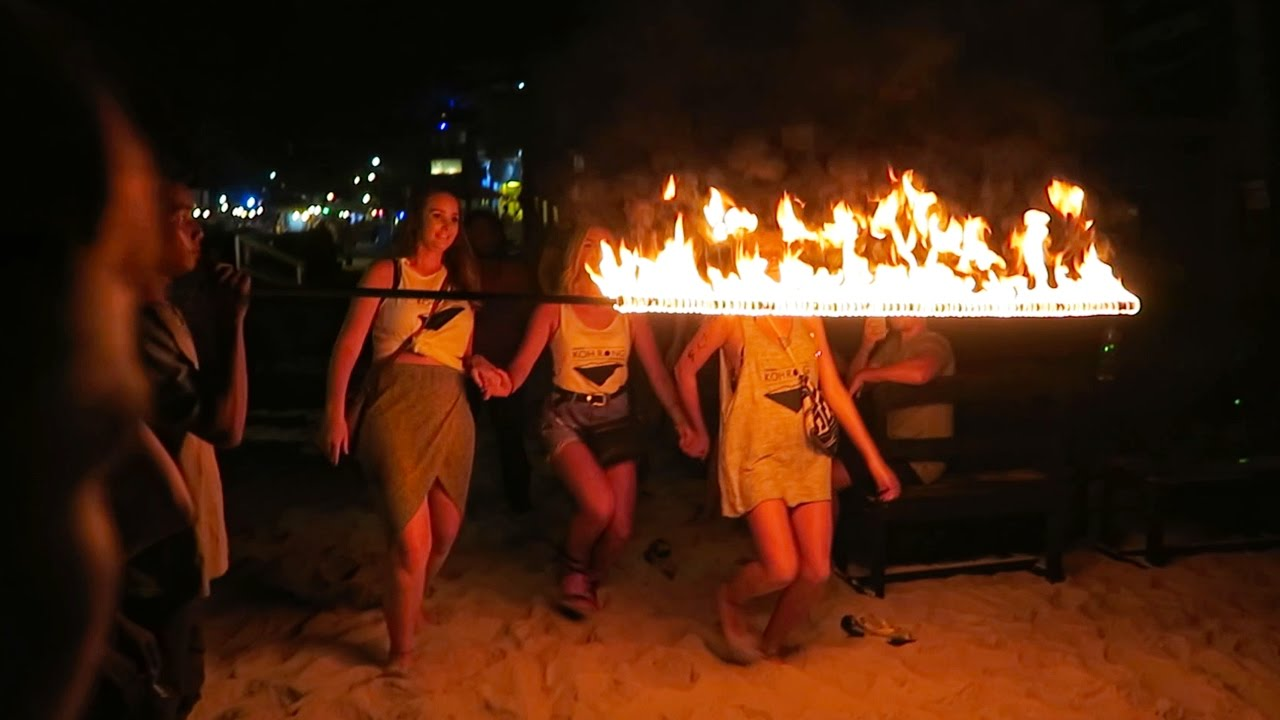 PARTYING IN CAMBODIA - WILD KOH TOCH BEACH PARTY