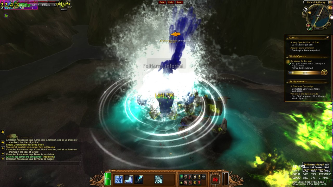 World Quest By Water Be Purged Wow Legion Hd 1080p 60fps