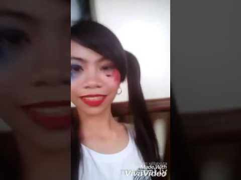 Vierr Villanoza Harley Quinn make up Musical.ly