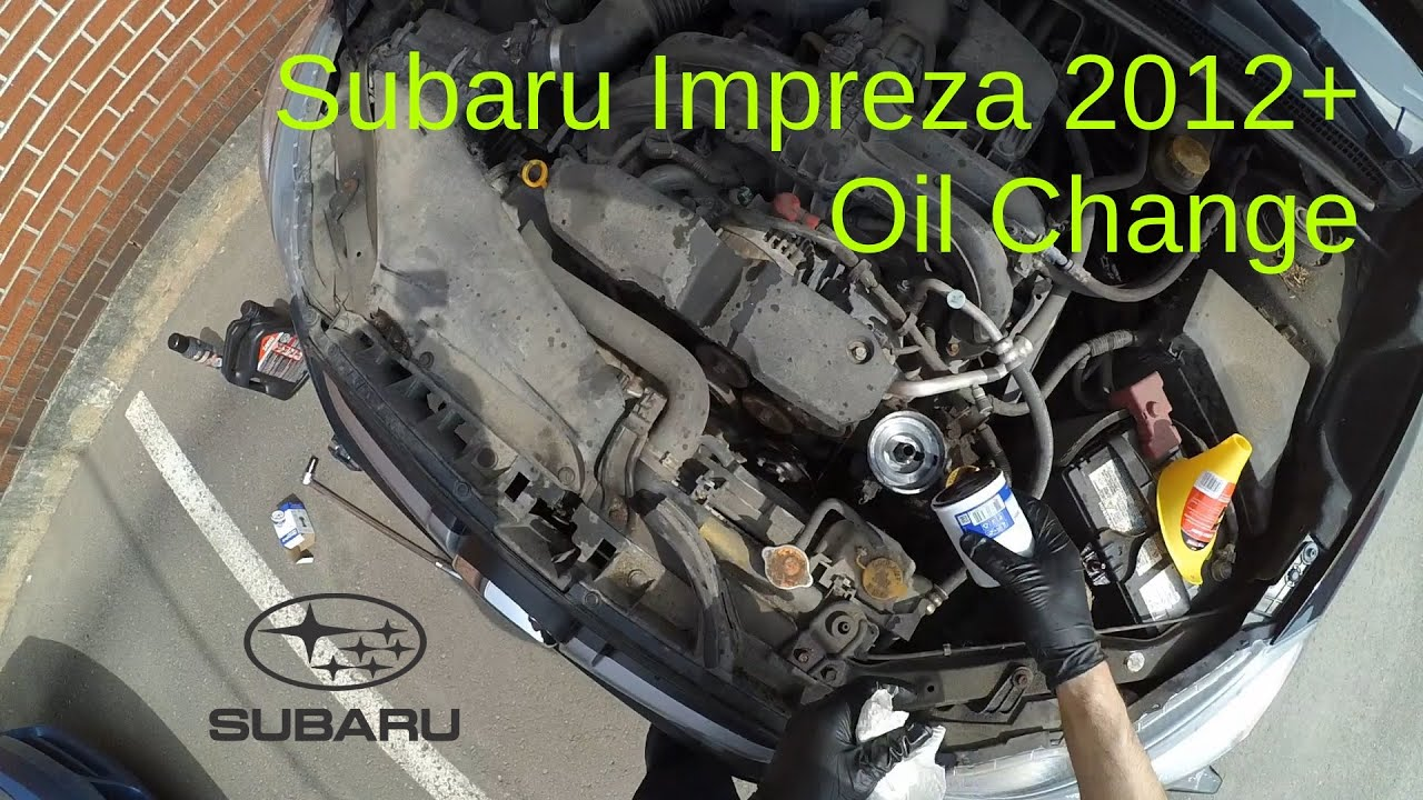 Subaru Impreza 2012+ Oil Change - YouTube