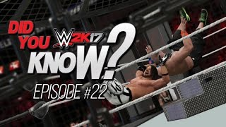 WWE 2K17 Did You Know? Weapons in Elimination Chamber, Alternate Finishers & More! (Episode 22)