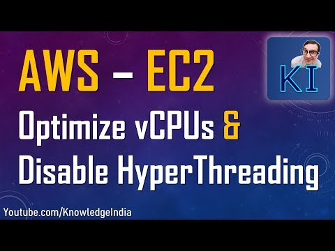 AWS - Optimize VCPUs For EC2 | New Feature | Disable Hyper-threading On EC2