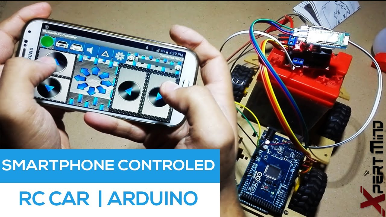 Smartphone Controlled Rc Car Through Bluetooth Arduino Project Circuit Diagram