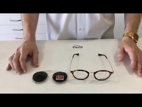 46dc5d275 Óculos De Grau E Acessório Ray Ban Clip On Rb 2447 2500/71 - R$ 615,00 em  Mercado Livre