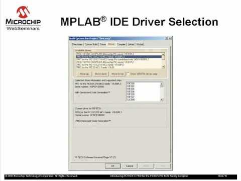 Hi-Tech C PRO Compiler for the PIC10/12/16 MCU Families Part 2
