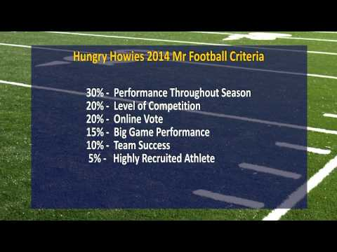 Hungry Howies - 2014 Mr. Football Award Update - September 28th, 2014