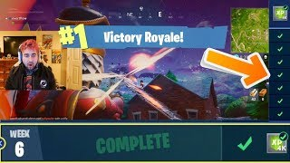 COMPLETING ALL BATTLE PASS CHALLENGES IN ONLY 1 GAME! (FORTNITE WEEK CHALLENGE)