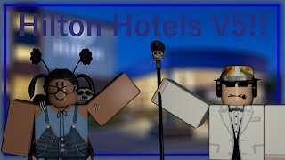 Roblox- Checking out Hilton Hotel's V5 with the Dunkin Donut's Owner!!