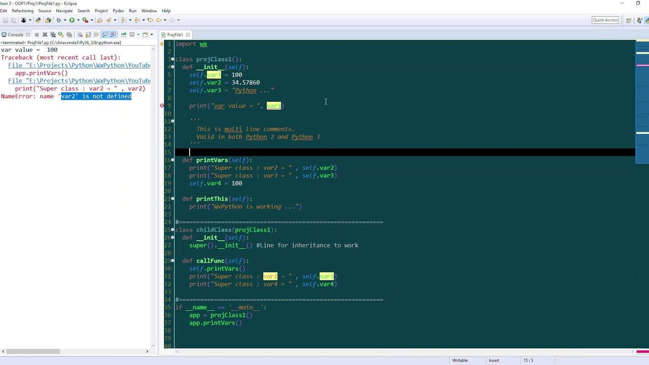 WxPython Tutorial 3 Python Single Inheritance