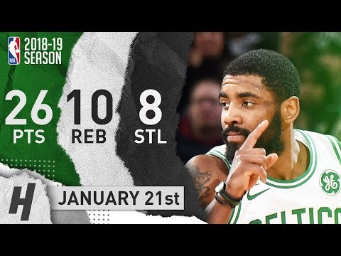 Kyrie Irving Full Highlights Celtics vs Heat 2019.01.21 - 26 Pts, 10 Ast, 8 Steals!