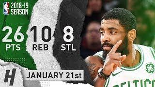 Kyrie Irving Full Highlights Celtics vs Heat 2019.01.21 - 26 Pts, 10 Ast, 8 Steals!