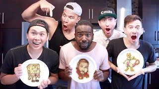 One of Deejdesign's most viewed videos: PANCAKE ART CHALLENGE 2.0