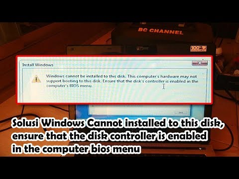 Windows Cannot installed to this disk, ensure that the disk controller is enabled