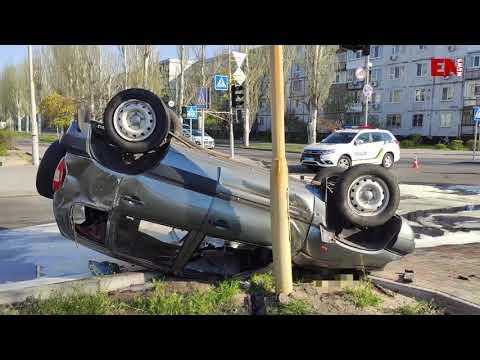 ДТП на перекрёстке (Видео)