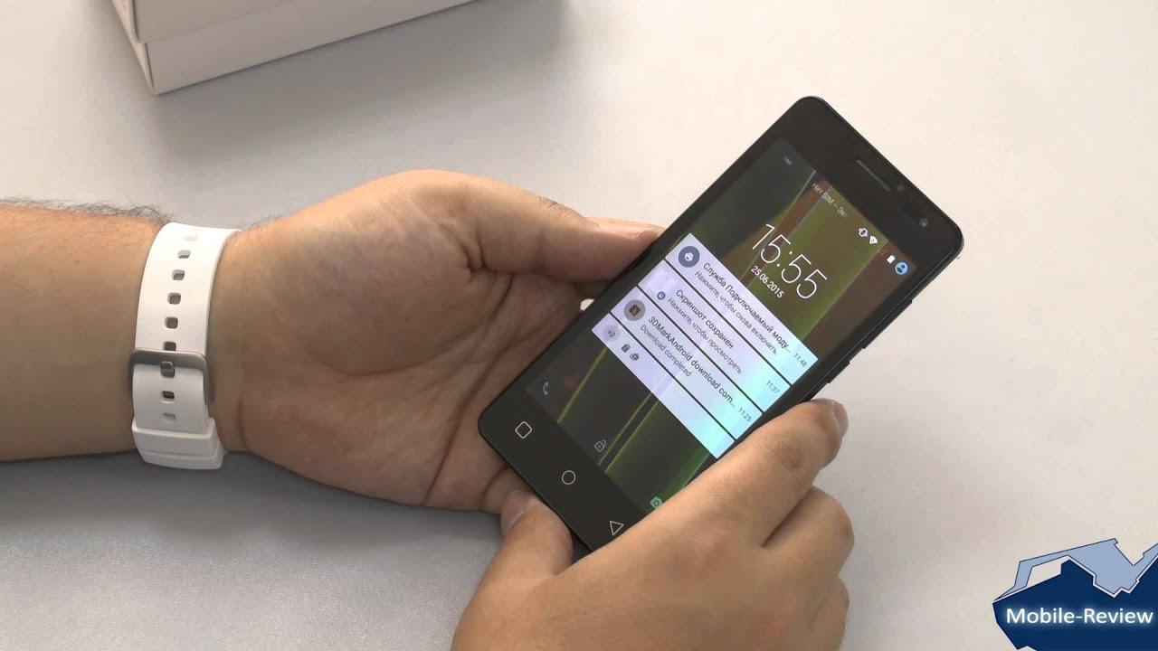 Обзор смартфона Senseit A109 - YouTube