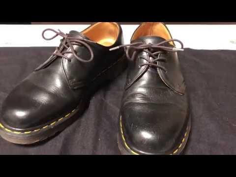 ドクターマーチン 3ホール MADE IN ENGLAND 靴磨き 手入れ方法 Dr.Martens 3hole Shoe care