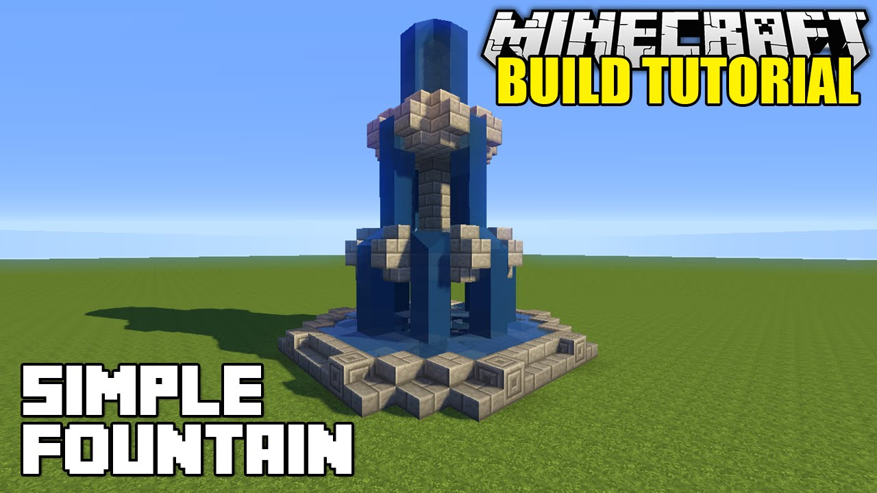Minecraft: How To Build A Fountain Tutorial (Simple & Easy)