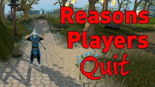 10 popular reasons players quit runescape