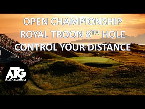 THE OPEN 8TH HOLE POSTAGE STAMP CONTROL YOUR DISTANCE