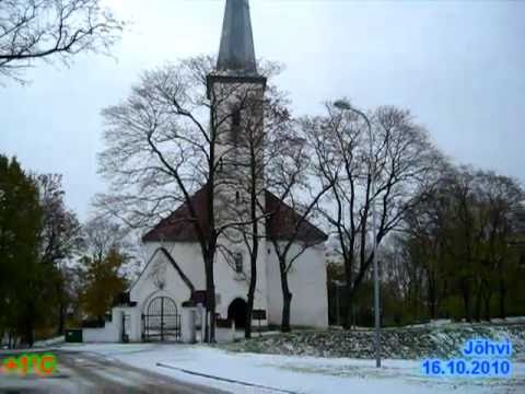 First snow in Johvi, Estonia
