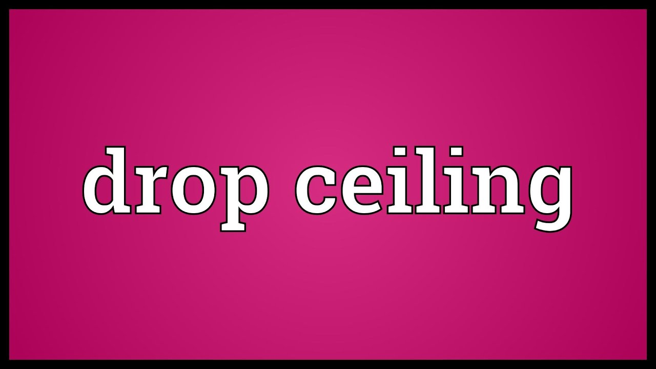 Drop Ceiling Meaning