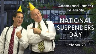 Adam and James Spann celebrate: National Suspenders Day