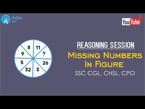 SSC CGL, CHSL, CPO | Missing Number In Figure | Reasoning | Online SSC CGL Coaching