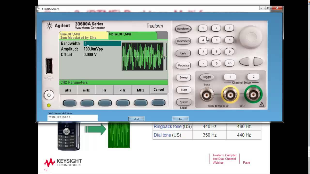 Dual Tone Multi Frequency Signal Generation And Testing Youtube Tri Waveform Generator