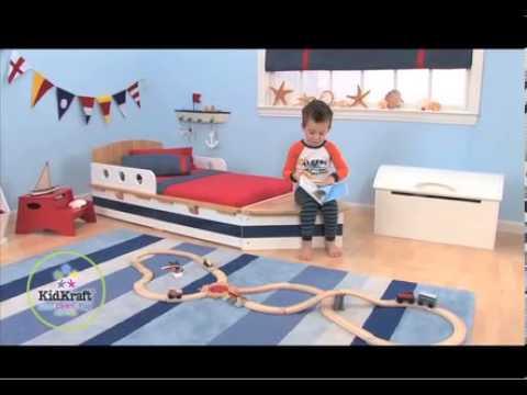 Cama para ni os en forma de barco ref 76253 youtube - Cama en forma de auto ...
