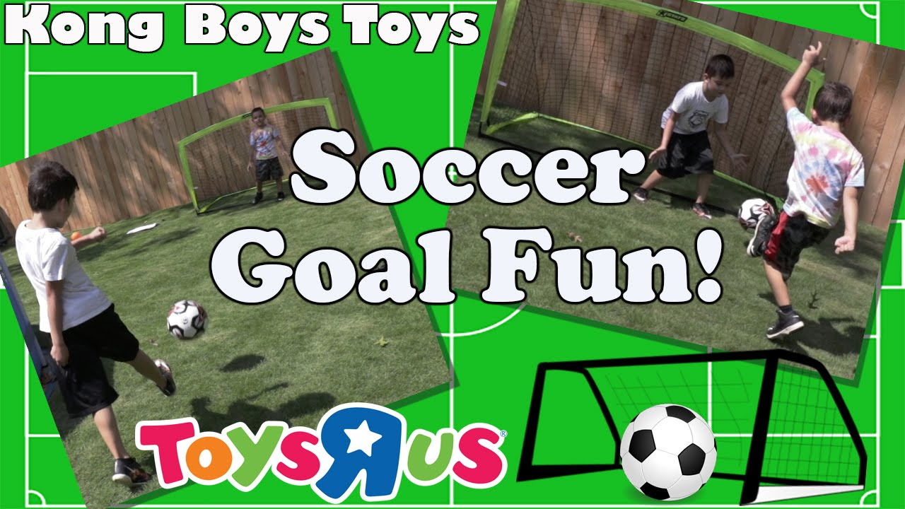 Football Toys For Boys : Funny kids soccer goal test and toy review from toys r us youtube