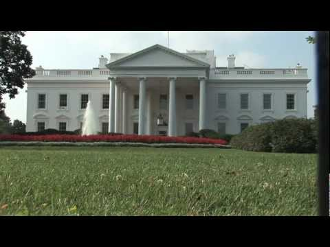 The White House Exterior Building Outside Garden Fountain Lawns On Pennsylvania Avenue Washington Dc
