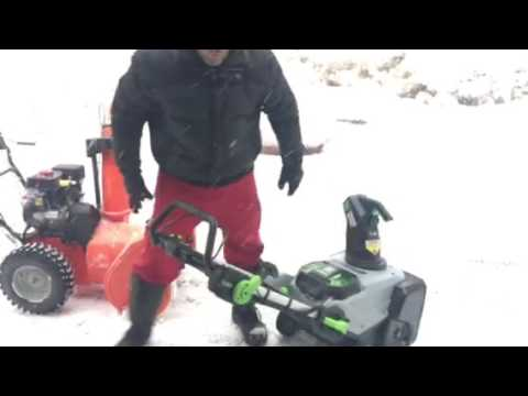 Ego Battery Operated Snow Blower Vs Ariens Gas Comparison Skip