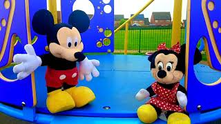 Mickey Mouse Ride on Stroller at the Playground