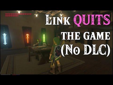 BotW Link QUITS the game! ..No DLC in Zelda Breath of the Wild (Spoilers)