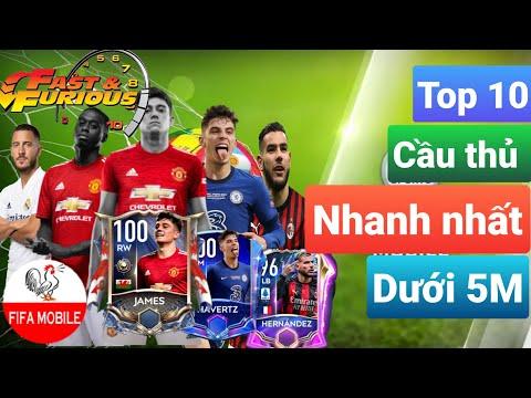 FIFA MOBILE 21|  TOP 10 CẦU THỦ NHANH NHẤT DƯỚI 5 TRIỆU COIN| TOP 10 FASTEST PLAYER UNDER 5M | GFFMB