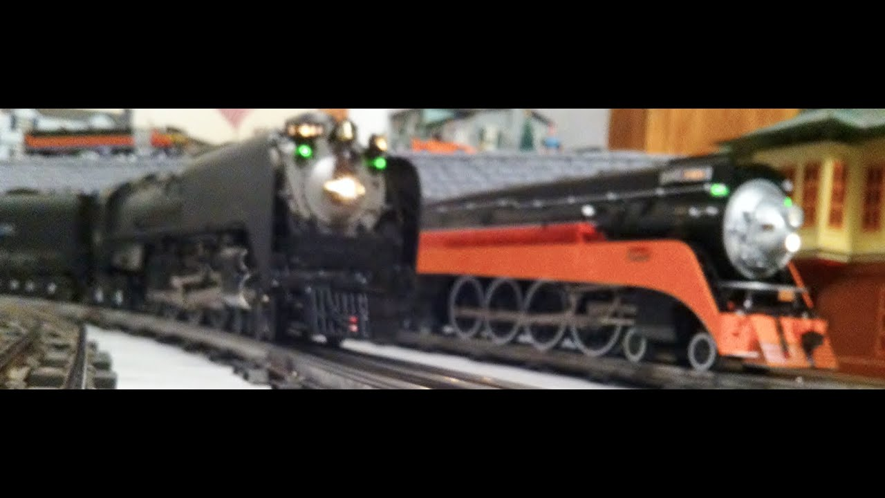 Lionel Southern Pacific Daylight & Union Pacific 844 double headed