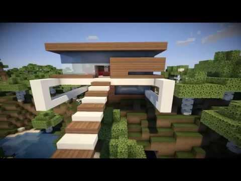 Construieste romaneste minecraft 39 39 casa moderna 39 39 mica 1 for Casa moderna 8