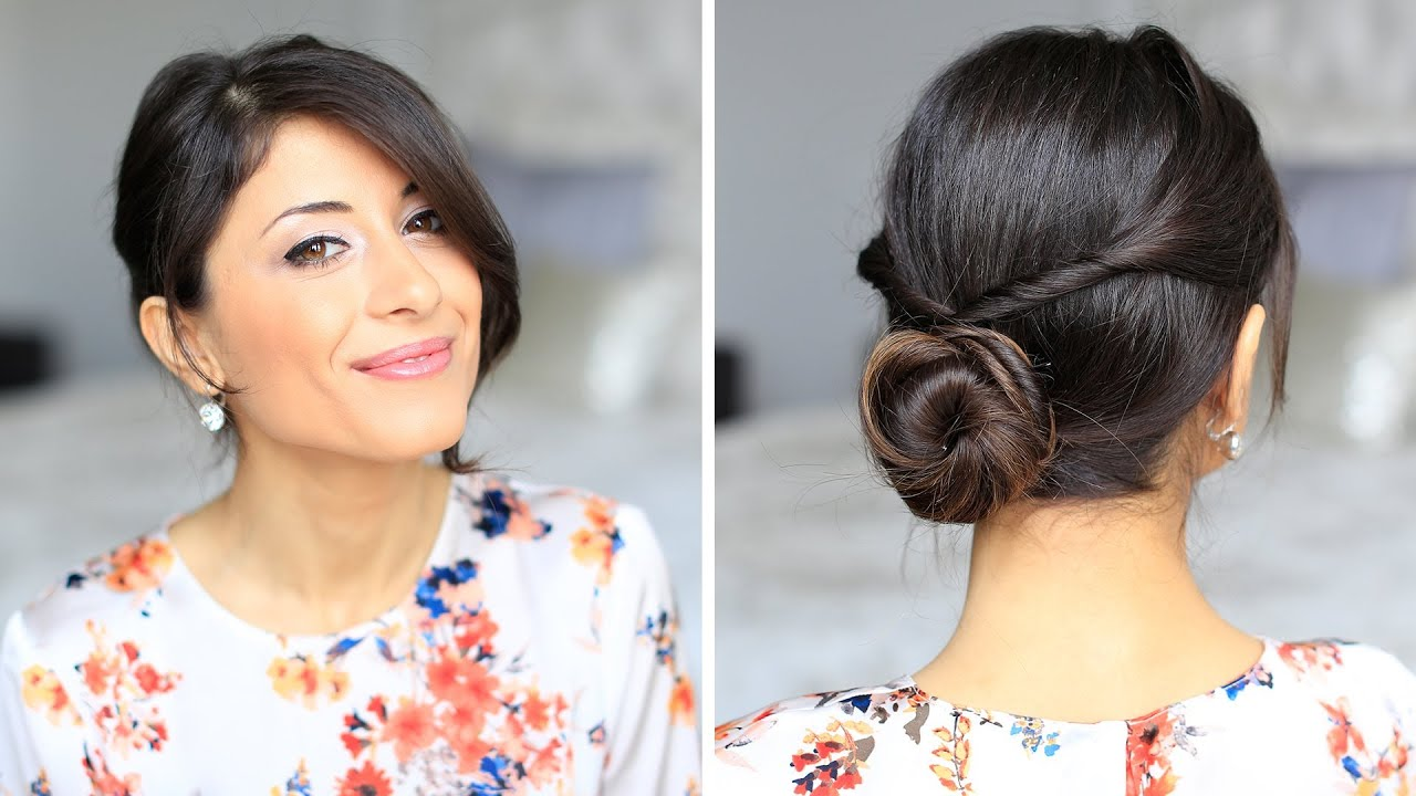 Double Twisted Bun Hair Tutorial