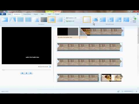 Windows Live Movie Maker Photo Video Montage How To