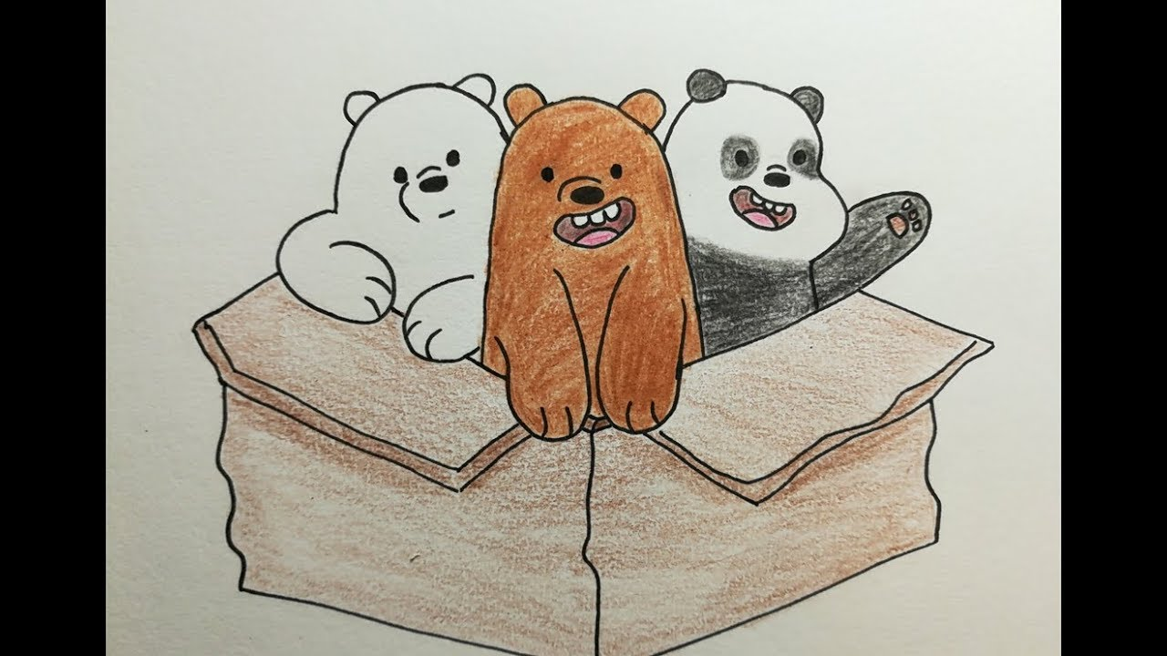 تعليم الرسم رسم الدببة الثلاثة شهاب قطبي باندا Drawing We Bare