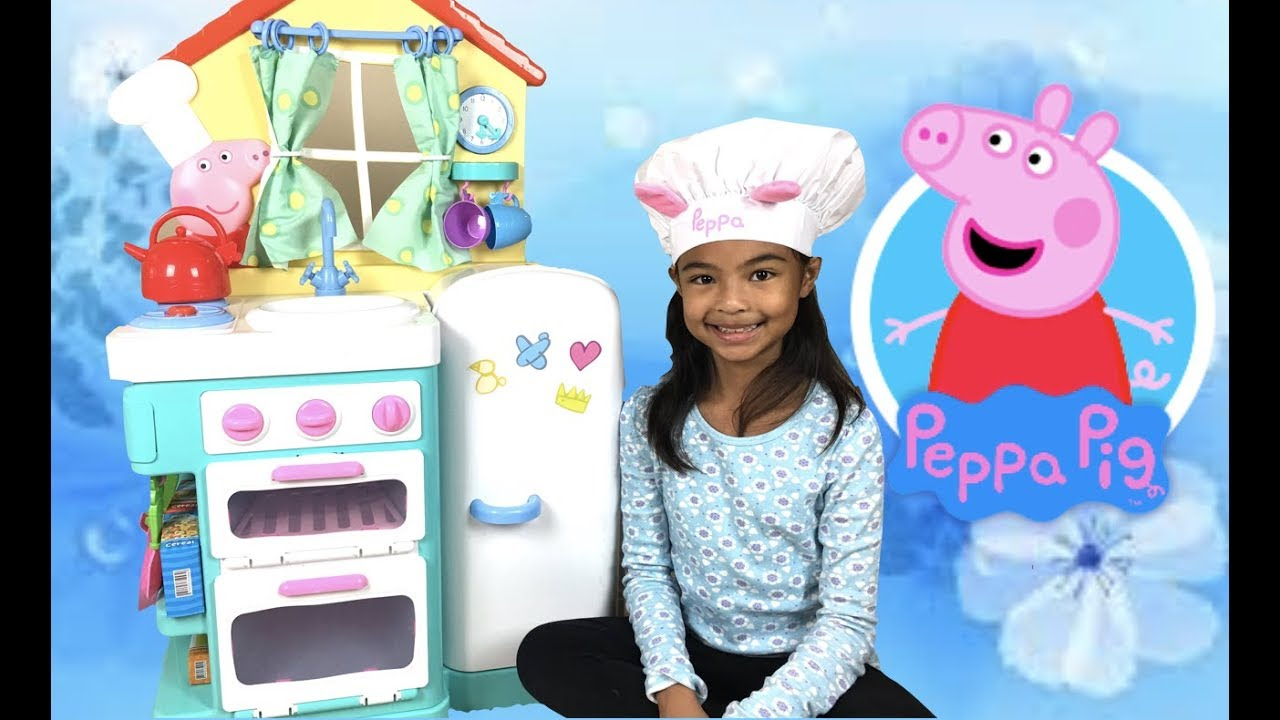 Peppa Pig\'s Little Kitchen Walmart Grocery Basket Unboxing | Toys ...