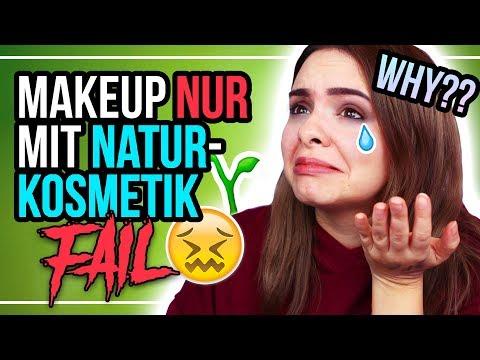MEGA FAIL! 😫🚫 Ganzes Makeup NUR MIT NATURKOSMETIK!🌱 – #24DaysOfChristmas