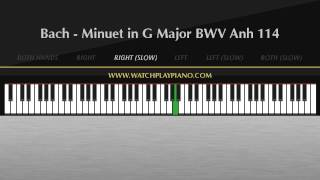 Bach - Minuet in G Major BWV Anh 114 [Easy Piano Tutorial]