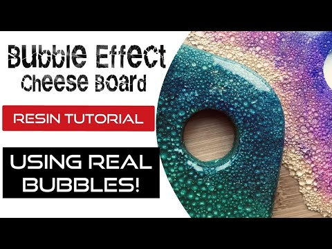 Bubble Effect Resin Tutorial PLUS How to Mask Uneven Edges - No Tape!