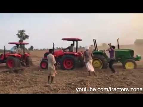 Tractor Tochan, 1 johndeere vs 2 kubota
