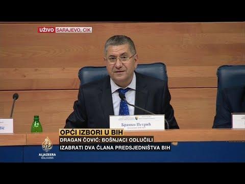Prvi službeni rezultati: Džaferović, Dodik i Komšić u Predsjedništvu BiH