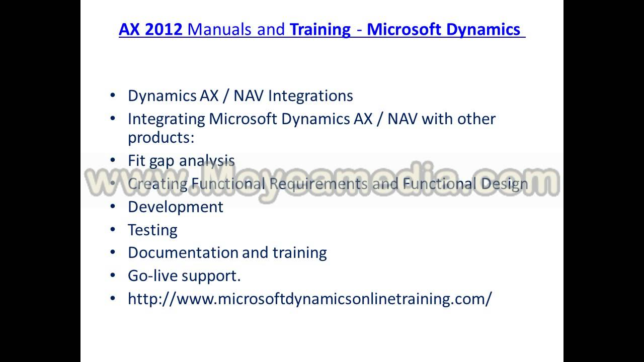 Microsoft Dynamics Ax 2012 Online Training Certifications Youtube