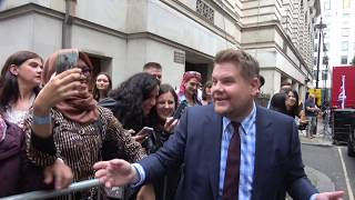 Fans in London greet James Cordon during his run of UK TV shows